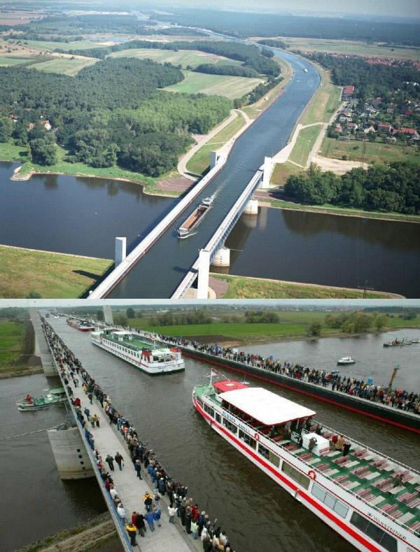 Водный мост в бельгии фото