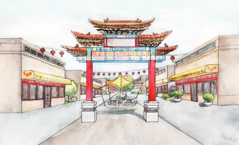<p>Традиционные китайские ворота на входе в &laquo;Чайна-Таун&raquo;. Предложение.</p>