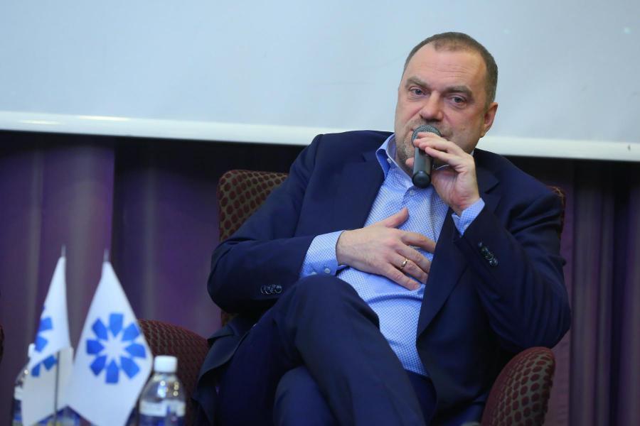 <p>Александр Кареевский, экономический обозреватель телеканала «Россия24».<br /> Фото А. Федорова</p>