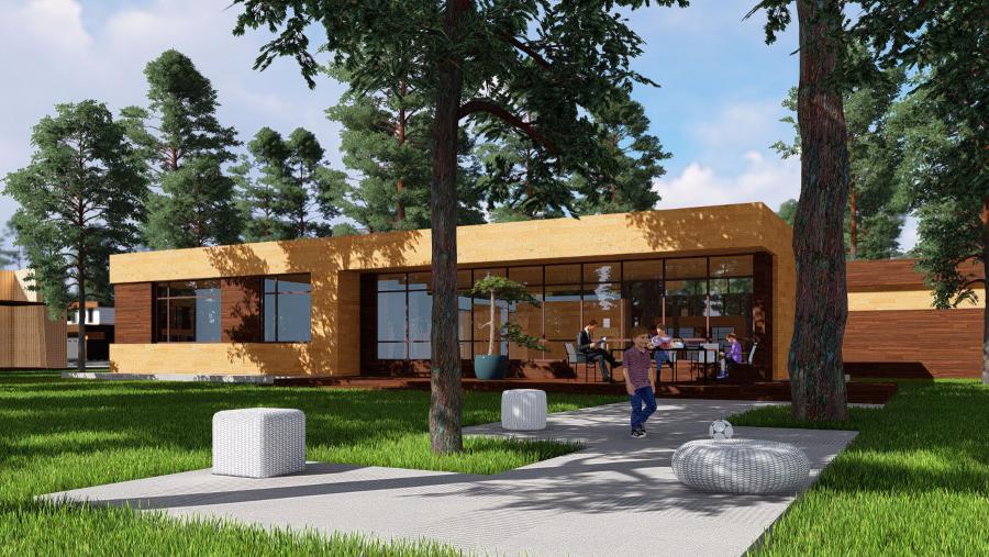 <p>Пример архитектурного стиля в поселке-парке &quot;Коперник&quot;</p>
