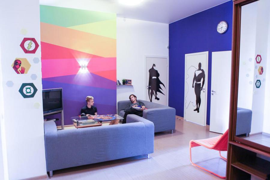 <p>Super Hostel.<br /> Фото https://www.booking.com/hotel/ru/tri-matreshki-na-karla-marksa.ru.html</p>