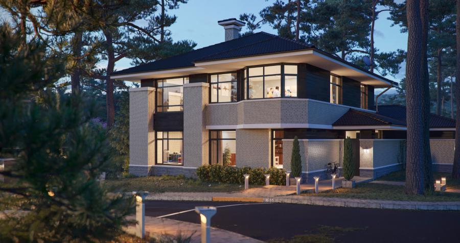 <p>Пример архитектурного стиля в поселке &quot;Патроны-парк&quot;</p>
