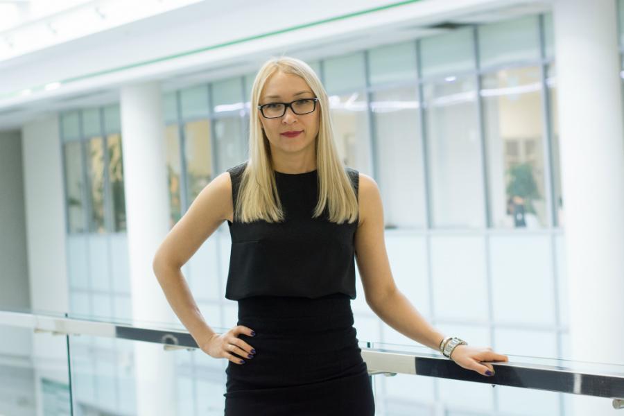 <p>Ольга Федотова, директор управления продаж малому бизнесу Байкальского банка Сбербанка.<br /> Фото: Е.Скубиева</p>