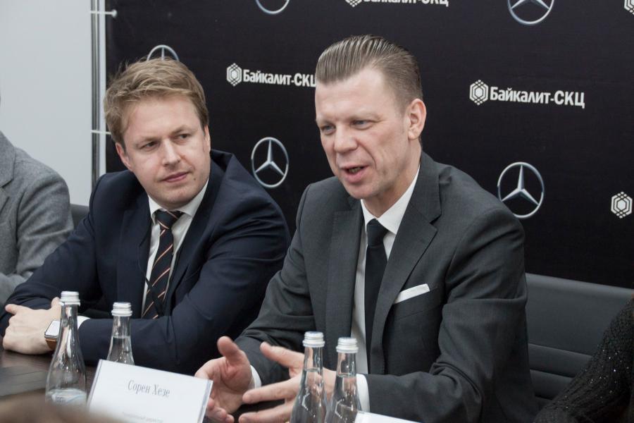 <p>Сорен Хезе, генеральный директор по направлению малотоннажных автомобилей АО «Мерседс-Бенц-РУС».<br /> Фото: Н. Понамарёва</p>