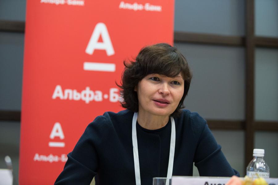 <p>Ирина Анохина, директор по развитию малого бизнеса Альфа-Банка.<br /> Фото: Е. Козырев</p>