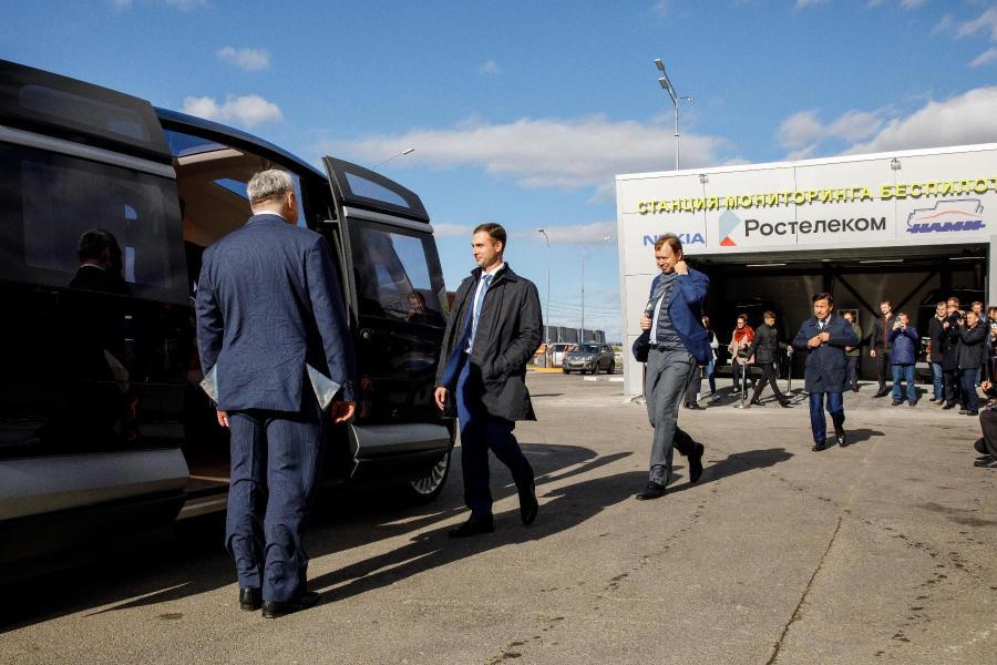 <p>Запуск опытной зоны беспилотного транспорта в Сколково на сети 5G.<br /> Фото предоставлено пресс-службой компанииФото предоставлено пресс-службой компании</p>