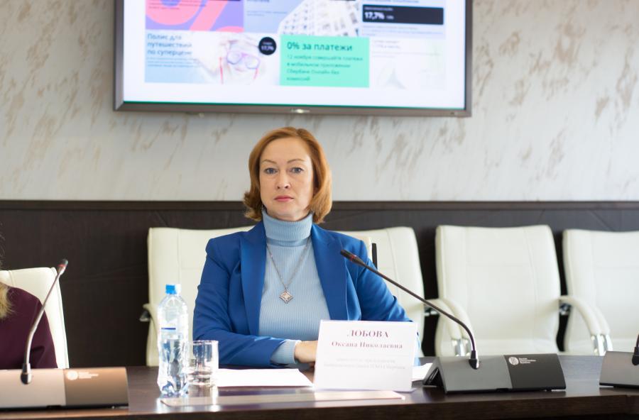 <p>Оксана Лобова, заместитель председателя Байкальского банка Сбербанка.<br /> Фото Е.Скубиевой</p>