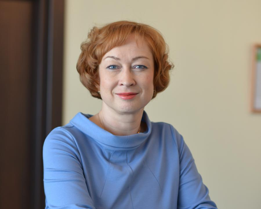 <p>Оксана Лобова, заместитель председателя Байкальского банка Сбербанка<br /> Фото: А.Федорова</p>