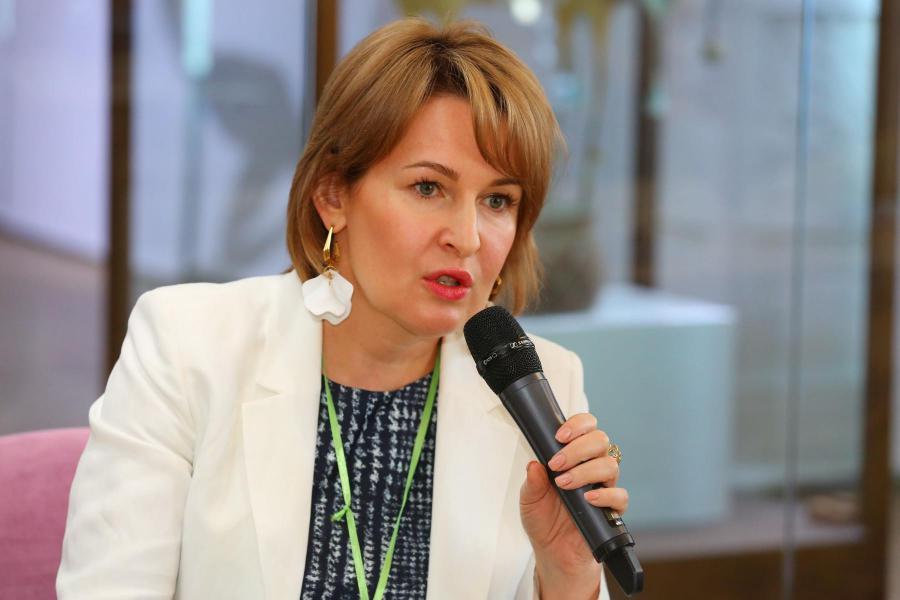 <p>Юлия Кальвина,заместитель Председателя Байкальского банка Сбербанка.<br /> Фото: А. Федоров</p>