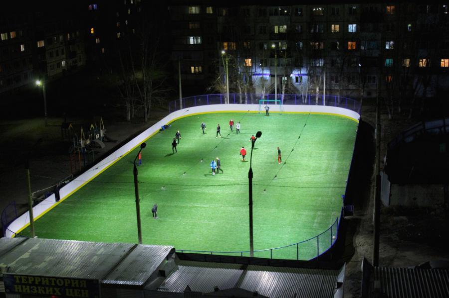 <p>Хоккейный корт в Шелехове.<br /> Фото: Даниил Григорьев.</p>