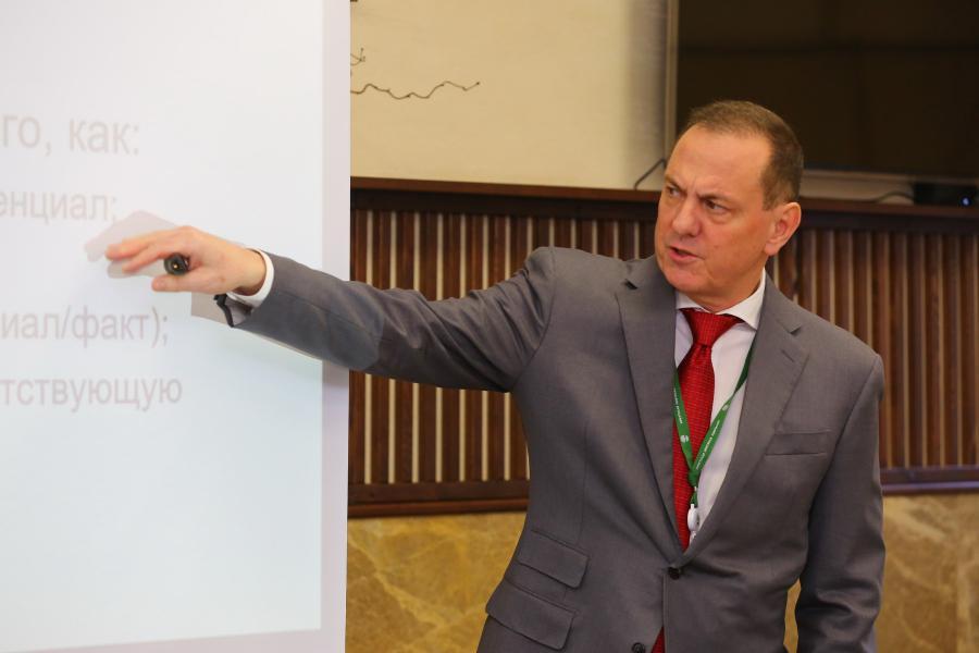 <p>Дональд Уолкотт, член Совета директоров АО «ИНК-Капитал».<br /> Четвертая научно-техническая конференция ИНК.<br /> Фото: А. Фёдоров</p>