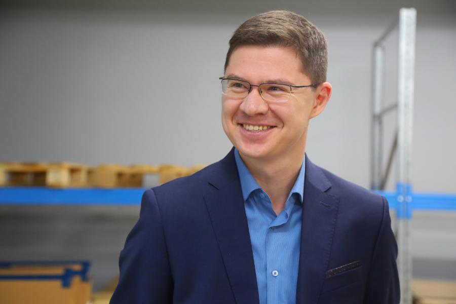 <p>Антон Шин, руководитель Центра поддержки экспорта в Иркутске.<br /> Фото: Андрей Фёдоров</p>
