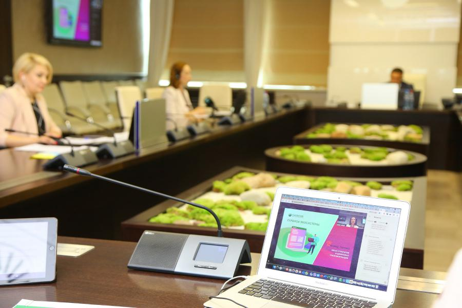 <p>Онлайн-конференция Байкальского банка Сбербанка.<br /> Фото: Андрей Фёдоров</p>
