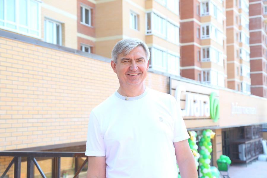 <p>Вячеслав Заяц, председатель совета директоров ГК «Слата».<br /> «Слата» открыла новый супермаркет с кассами самообслуживания.<br /> Фото: Андрей Фёдоров</p>
