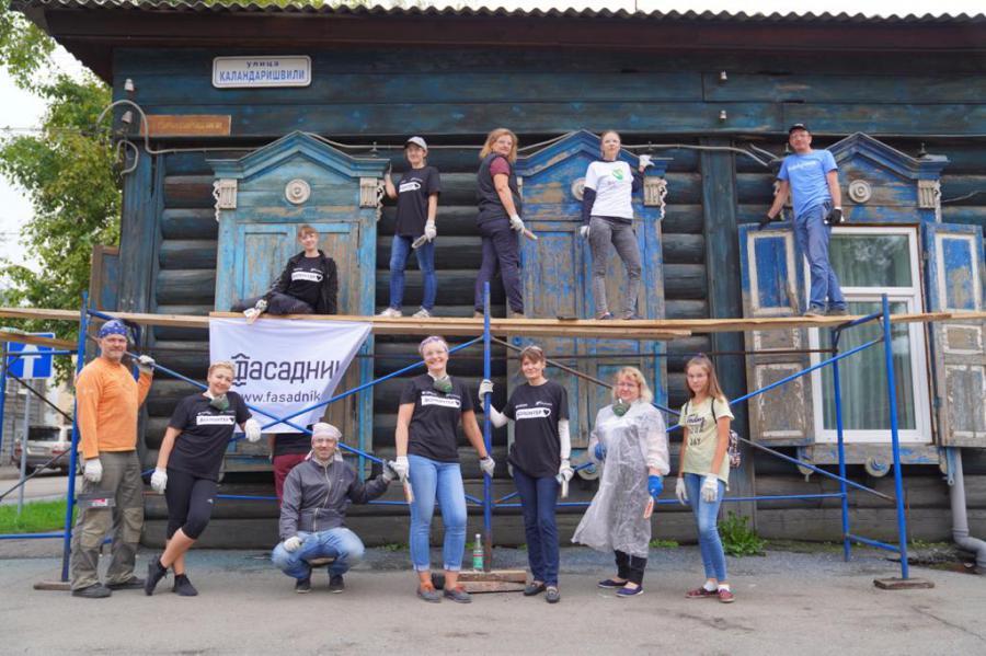 <p>Акции «Фасадник» в Иркутске.<br /> Фото предоставлено пресс-службой банка</p>