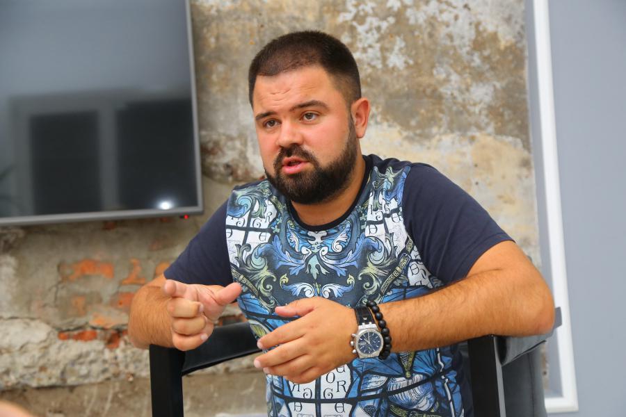 <p>Евгений Ефремов, сооснователь Арт-завода Доренберг<br /> Фото: А. Федоров</p>