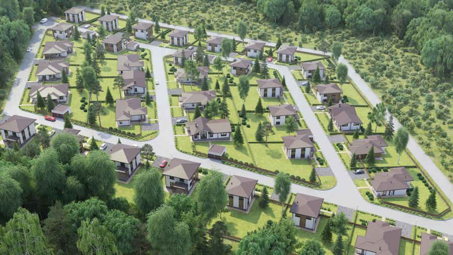 <p>Генплан 1-го пускового комплекса поселкаClever Smart Village</p>