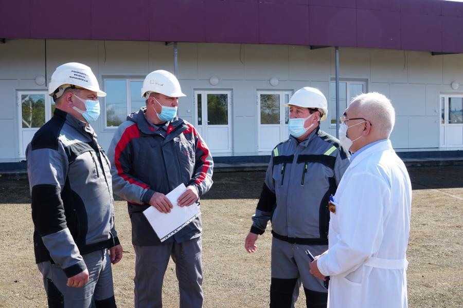 <p>Строительство медицинского центра в Братске.<br /> Фото из архива компании</p>