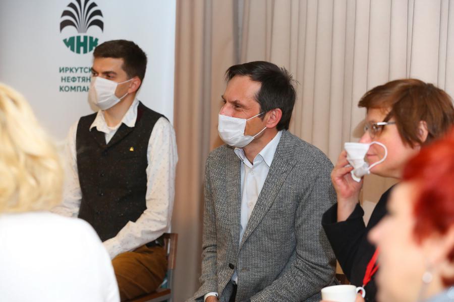 <p>«День Ч» в Иркутске. Пресс-конференция.<br /> Фото: Андрей Фёдоров.</p>