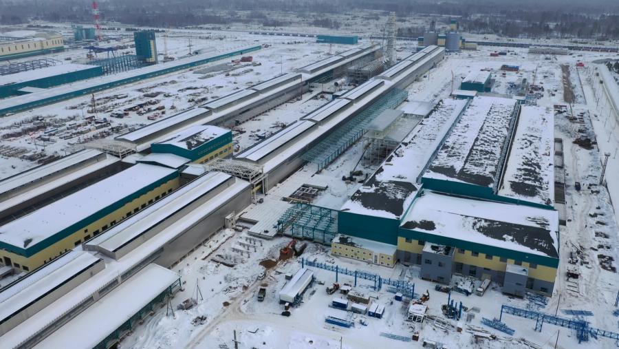 <p>Строительство Тайшетскогоалюминиевогозавода</p>