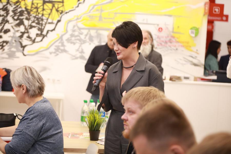 """<p>Елена Дуберштейн, директор по маркетингу компании «РАФТ Лизинг».<br /> День предпринимателя. Центр """"Мой бизнес"""", 2021.<br /> Фото: Андрей Фёдоров.</p>"""